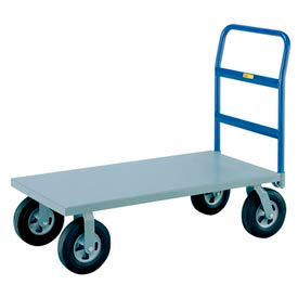 "Little Giant® Heavy Duty Platform Truck NBB-2460-10SR - 24 x 60 - 10"" Rubber Wheels - 1500 Lb."
