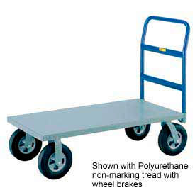 Little Giant® H/D Platform Truck NBB-3072-8MR-FL - 30 x 72 - MORT Wheels with Floor Lock