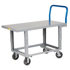 Little Giant® Adjustable Work Height Platform Truck RNB-2448-6MR-AH 24x48 Mold-On Rubber Wheels