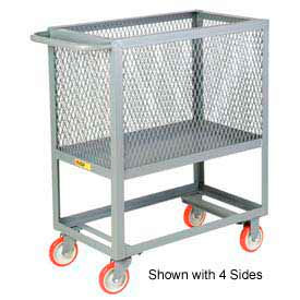 Little Giant® Raised Platform Box Truck RP3X-1832-5PY, 3 Expanded Metal Sides 18x32 1200