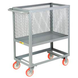 Little Giant® Raised Platform Box Truck RP4X-2436-5PY, 4 Expanded Metal Sides 24x36 1200