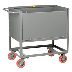 Little Giant® Raised Platform Truck with Drop-Gate RPDS-3048-6PY, Solid Sides, 30 x 48