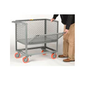 Little Giant Raised Platform Truck RPDX-3048-6PY Drop-Gate Expanded Metal Sides, 30 x 48 by