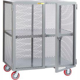 Little Giant® Mobile Storage Locker SC-2460-6PPY 1 Center Shelf 24x60 Polyurethane Wheels