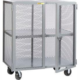 Little Giant® Mobile Storage Locker SC-3048-6PH, 1 Center Shelf, 30x48, Phenolic Wheels