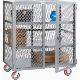 Little Giant® Mobile Storage Locker SC2-2448-6PPY, 2 Center Shelves, 24 x 48, Poly Wheels