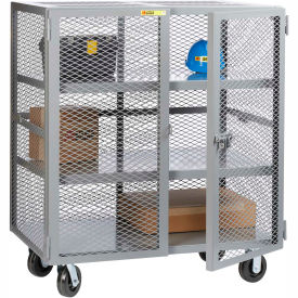 Little Giant® Mobile Storage Locker SC2-3060-6PH 2 Center Shelves 30x60 Phenolic Wheels