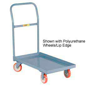 Little Giant® Steel Deck Platform Truck T-500-UPS - Flush Edge - 18 x 32 - Mold-on Rubber