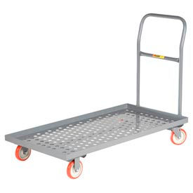 Little Giant® Platform Truck T-520-P-LU, Perforated Deck, 24x48, Lip Edge, MORT Wheels