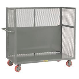 Little Giant® Drop-Shelf Truck T1-3048-6PY-DS, Mesh Sides, 30 x 48