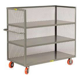 Little Giant® 3-Sided Truck T3-3048-6PY, 3 Shelves, Mesh Sides, 30 x 48