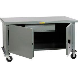 """Little Giant WWC3048-HD6PHFL 48""""W x 30""""D Mobile Heavy-Duty Cabinet Workbench - Steel Top"""