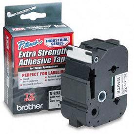 TZ Extra-Strength Adhesive Tapes-Laminated, Black on White, 1-1/2w