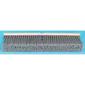 "18"" Flagged Polypropylene Floor Brush Head, Gray - BWK20418 - Pkg Qty 12"