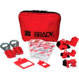 Brady® Personal Breaker Lockout Pouch Kit w/2 Lockout Hasps, 105966