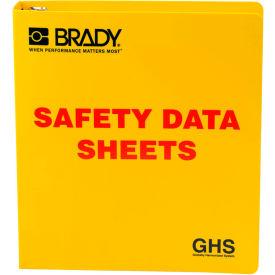"Click here to buy Brady 121183 GHS 1-1/2"" Safety Data Sheet (SDS) Binder, English, Polyethylene, 2""W x 11""H."