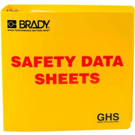 "Brady 121184 GHS 3"" Safety Data Sheet (SDS) Binder, English, Polyethylene, 3-1/2""W x 11""H by"