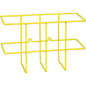 "Brady 2014 Collapsable Wire Binder Holders, Yellow, PVC Coated Steel, 14""W x 9""H by"