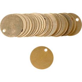 """Brady® 23210 Blank Valve Tag, 25/Pkg, Brass, 1-1/2"""" Dia."""