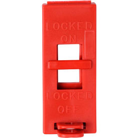 Brady® 65696 Wall Switch Lockouts, Red, 6/Pack