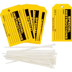 """Brady® 76142 Special Instructions Tag, 25/Pkg, Polyester, 5-3/4""""W x 3""""W"""