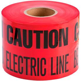 """Brady® 91296 Underground Tape, Caution Buried Electric Line, 6""""W X 1000'L, Black/Red"""