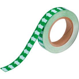 """Brady® 91425 Pipe Marker Arrow Tape, Vinyl, 1""""W x 30 Yds., Green/White"""