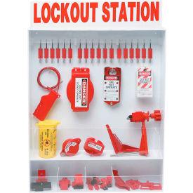 Brady® Extra-Large Lockout Station w/18 Safety Padlocks, 99693