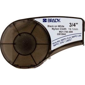 "Brady BMP21 Series Nylon Cloth Wire & Cable Labels, 3-4""W X 16'L, Black-White, M21-750-499"