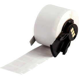 """Brady BMP71 TLS 2200 Self-Laminating Wire & Cable Labels, 1-2""""W X 1""""H, Clear-White, PTL-17-427"""