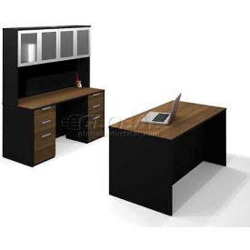 Bestar® Pro-Concept Executive Kit in Milk Chocolate Bamboo & Black