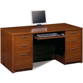 "Bestar® Wood Desk - 66"" - Tuscany Brown - Embassy Series"