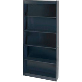 "72"" Bookcase with 5 Shelves in Charcoal"