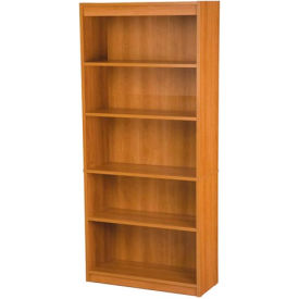 "72"" Bookcase with 5 Shelves in Cappuccino Cherry"