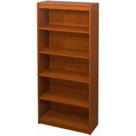 "72"" Bookcase with 5 Shelves in Cognac Cherry"