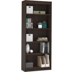 "Bestar® Bookcase 29-1/2""W x 11-5/8""D x 72""H 5 Shelf Dark Chocolate"