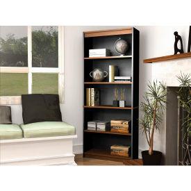 "Bestar® Bookcase - 72""H - Tuscany Brown & Black - Innova Series"