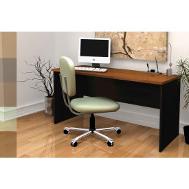 "Bestar® Wood Desk - 60"" - Tuscany Brown & Black - Innova Series"
