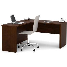 """Bestar® L Desk - 60"""" - Chocolate - Prestige+"""
