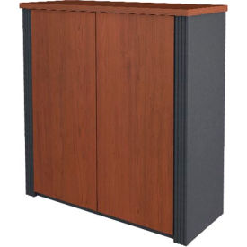 "Bestar® Storage Cabinet - 30"" - Bordeaux & Graphite - Prestige+"
