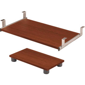 Prestige + Keyboard Shelf and CPU Platform in Cognac Cherry
