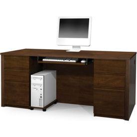 "Bestar® Wood Desk - Double Pedestal - 71"" - Chocolate - Prestige+"
