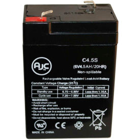 AJC® North Supply 782076 6V 4.5Ah Sealed Lead Acid Battery