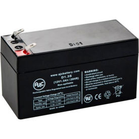 AJC® B&B BP12-1.2 BP1.2-12 12V 1.3Ah Sealed Lead Acid Battery