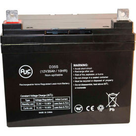 "AJC® Quickie P110 (14"" wide) U1 AGM 12V 35Ah Wheelchair Battery"