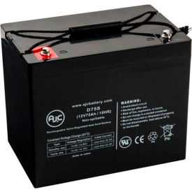 AJC® Merits S344 12V 75Ah Wheelchair Battery