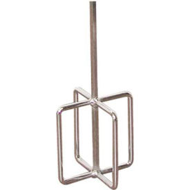 """Egg Beater Drill Mixer, 5"""" Dia. Paddle, 30"""" Hex Shaft"""