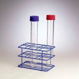 "Bel-Art Poxygrid® Hybridization Bottle Rack 169640006, 5-3/8"" x 7-13/16"" x 5-1/8"", Blue, 1/PK"