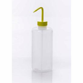 Bel-Art LDPE Wash Bottles 116141000, 1000ml, Yellow Cap, Narrow Mouth, 4/PK
