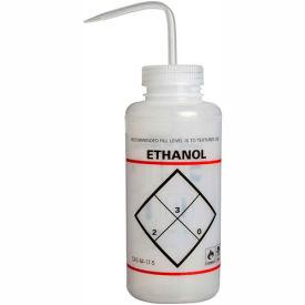 Bel-Art LDPE Wash Bottles 116463739, 1000ml, Ethanol Label, Natural Cap, Wide Mouth, 6/PK